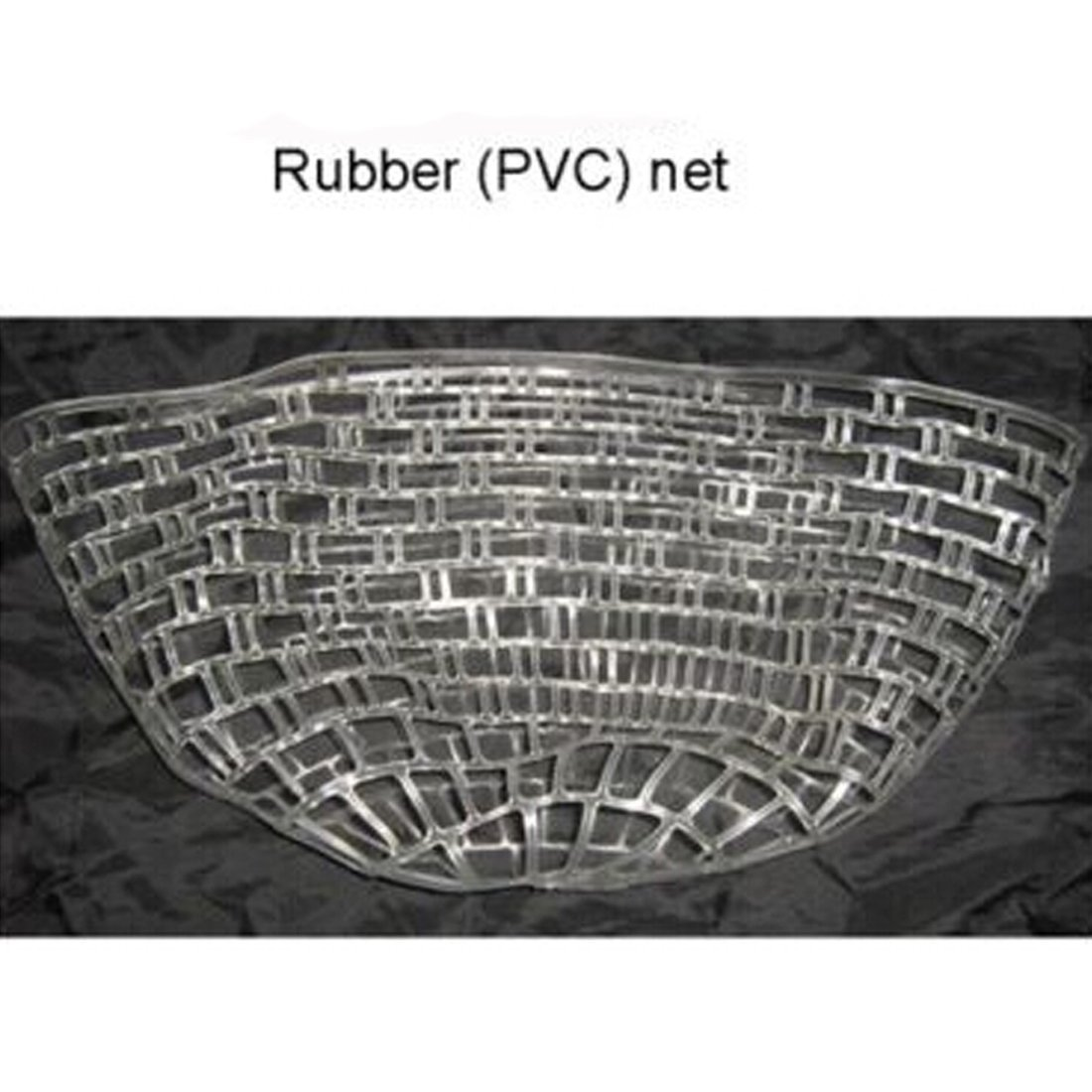 L 120CM Outdoor Fly Fishing Landing Net Clear Rubber Replacement Mesh Bag Rubber Fishing Net