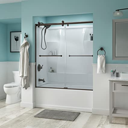 Charmant Delta Shower Doors SD3276666 Linden 60u0026quot; Semi Frameless Contemporary  Sliding Bathtub Door In Bronze