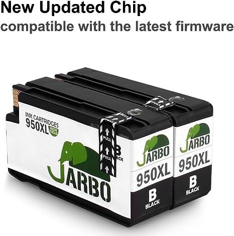 JARBO (2 Negro) Reemplazar por HP 950 XL 951 XL Cartuchos de tinta ...