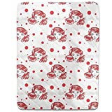 Girls Love Polkadots Fitted Sheet: King Luxury Microfiber, Soft, Breathable