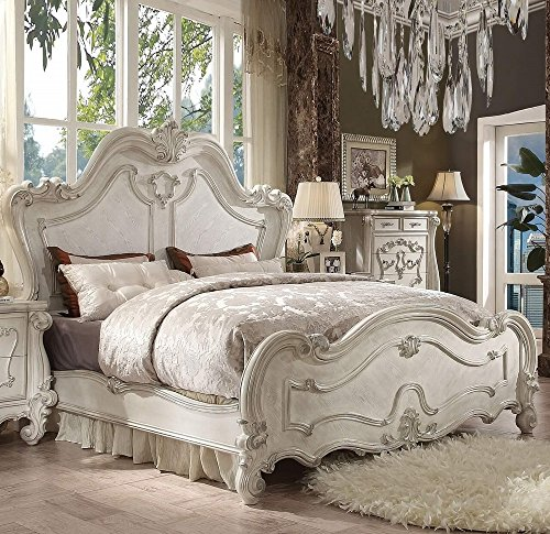Sets Bedroom White Antique (Acme Furniture ACME Versailles Bone White Queen Bed)