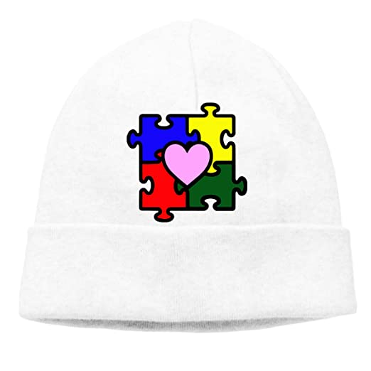 COLLJL-8 Men & Women Autism Puzzle Outdoor Warm Knit Beanies Hat Soft Winter Skull Caps Skullies & Beanies