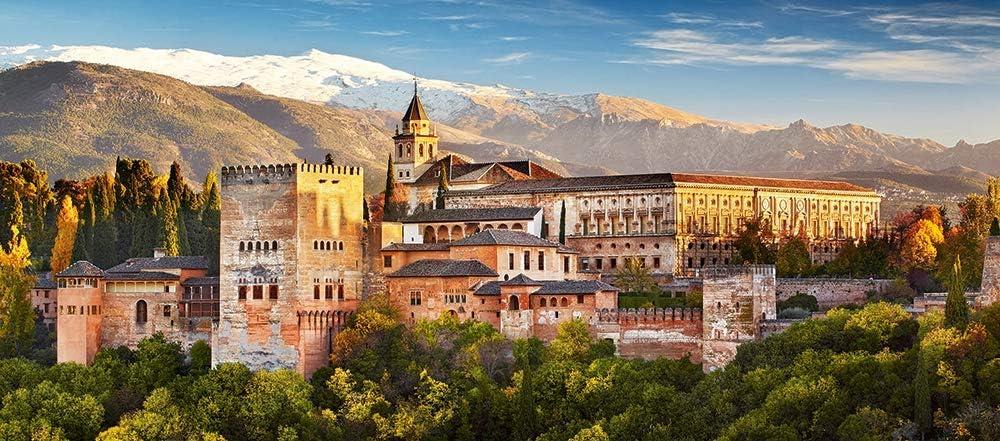 Castorland View of The Alhambra Puzzle - Rompecabezas (Puzzle Rompecabezas, Paisaje, Niños y Adultos, Niño/niña, 9 año(s), 680 mm)