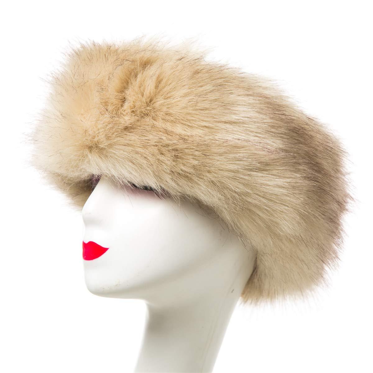 Lucky Leaf Chapeau de Bandeau de fourrure de femmes cachant le ré chauffeur d'oreille de fausse fourrure le ski pour Femme