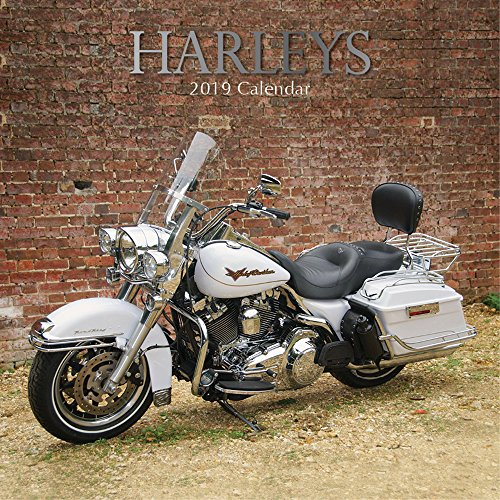 2019 Wall Calendar - Harley Motorcycles Calendar, 12 x 12 Inch Monthly View, 16-Month, Big Bikes Theme, Includes 180 Reminder Stickers
