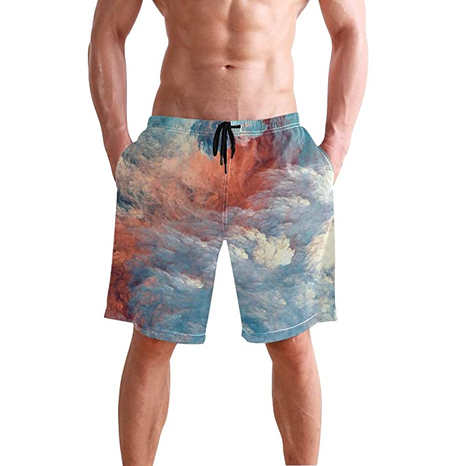 ef085bda4b Image Unavailable. Image not available for. Color: Cool Color Sky Men's  Swim Trunks ...