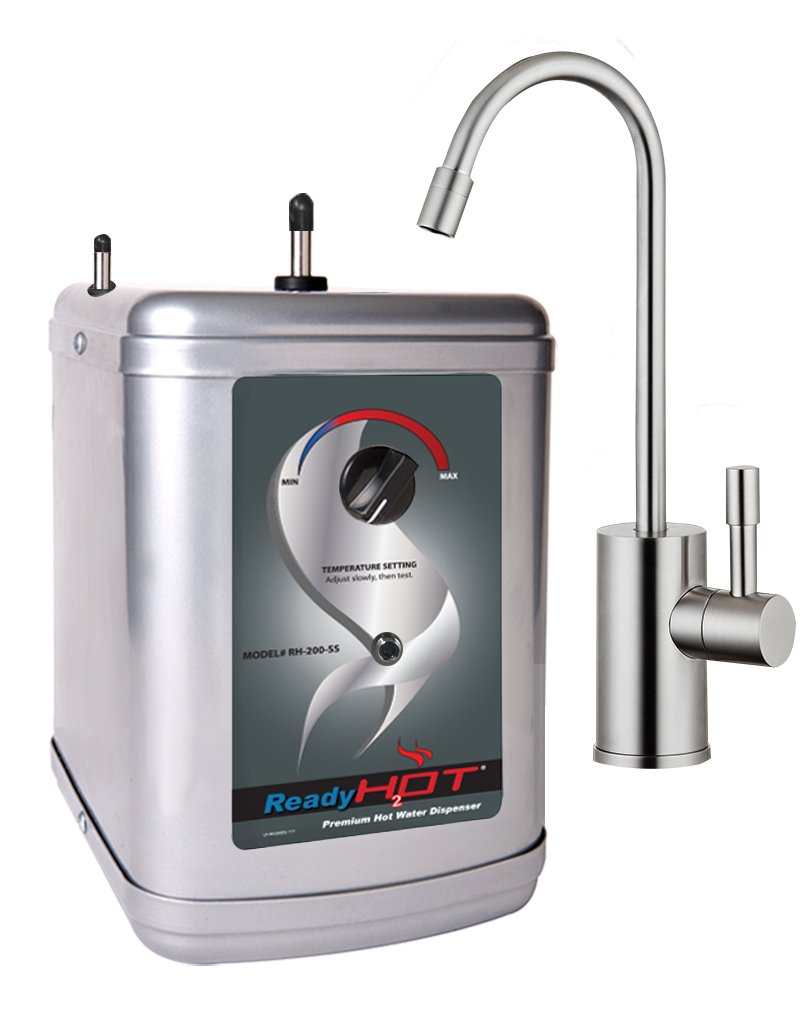 Ready Hot RH-200-F570-BN Stainless Steel Hot Water Dispenser System, Includes Brushed Nickel Single Lever Faucet