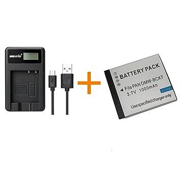 1 batería DMW-BCK7E BCK7E BCK7 de 1000 mAh con Cargador para ...