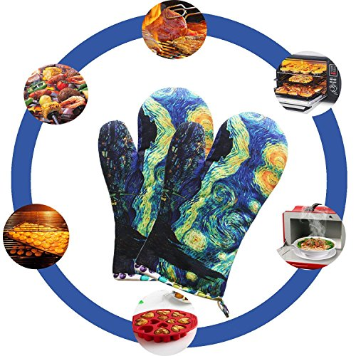 MAGICAL DESIGN Funny Oven Mitts, with The Heat Resistance and Flexibility of Cotton, Recycled Cotton Infill, Terrycloth Lining, 480 F Heat Resistant Pair by MAGICAL DESIGN (Image #1)
