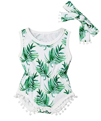 15cdde4b3 Newborn Infant Baby Girl Clothes Lace Halter Backless Jumpsuit Romper  Bodysuit Sunsuit Outfits Set (Infant