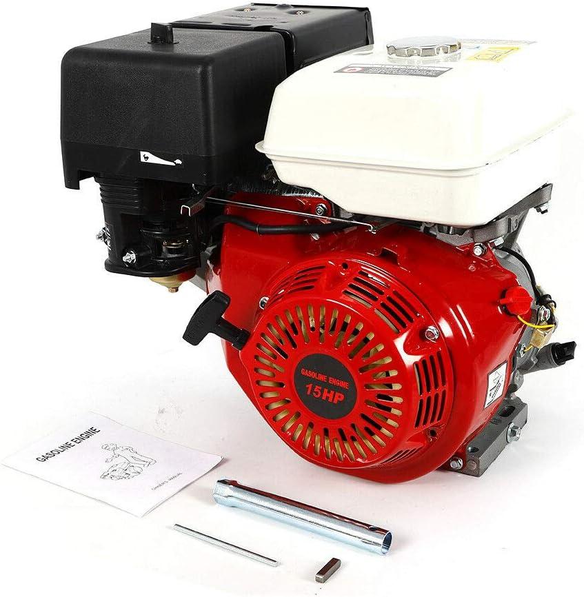 Amazon.com: SD&ZC Motor de gas de 4 tiempos 15 HP, 420 CC ...