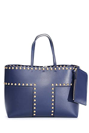779751cf5dd6 Image Unavailable. Image not available for. Color  Tory Burch Block-T  Ladies Large Leather Tote Handbag 44327403