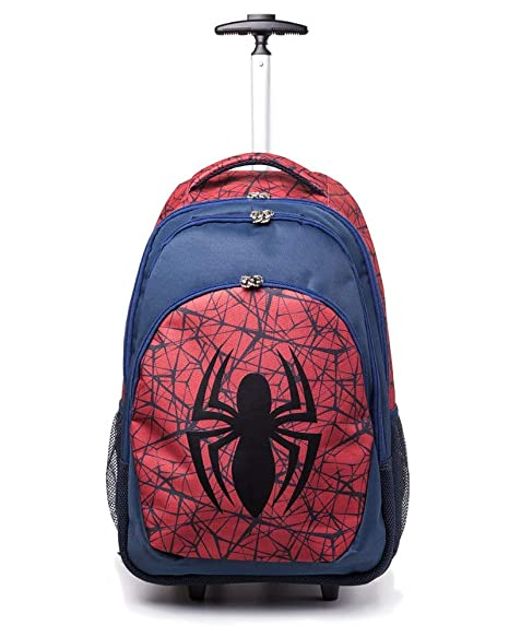 Spiderman Marvel Comics Ultimate Spider-Man Logo Trolley Backpack, Unisex, Red/Blue