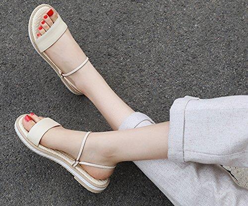 Enfiler Chaussons Mules Abricot Femme Chaussures Aisun Plates à Classic TxYIWqwF