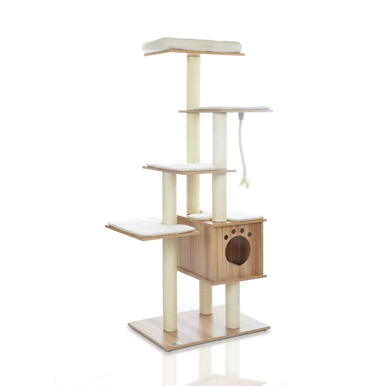Amazon Com Lazy Buddy 67 Wooden Cat Tree New Arrival Modern