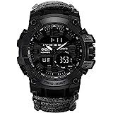 6-in-1 Top Brand Men Sports Watches Dual Display Analog Digital LED Electronic Quartz Wristwatches Waterproof Swimming Milita