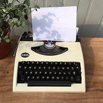 Máquina de escribir Typewriter, 80 s Vintage Antique Vintage English Typewriter Portátil de Normal
