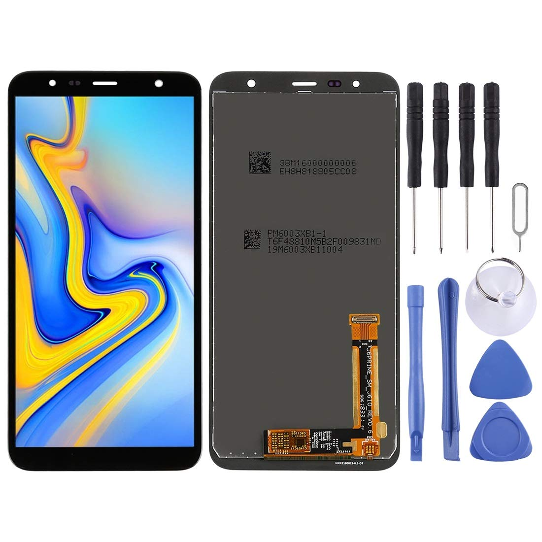 CLEE Phone Accessories COU LCD Screen and Digitizer Full Assembly for Galaxy J6+, J4+, J610FN/DS, J610G, J610G/DS, J610G/DS, J415F/DS, J415FN/DS, J415G/DS (Black) (Color : Black)
