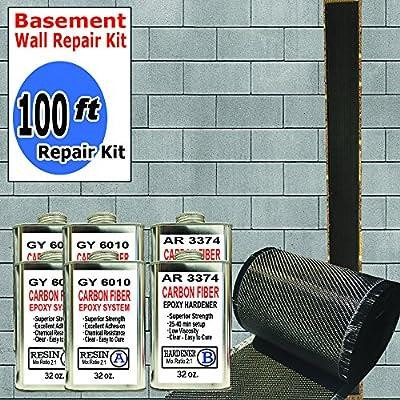 100 ft-Carbon Fiber-Basement Wall Crack Repair Kit