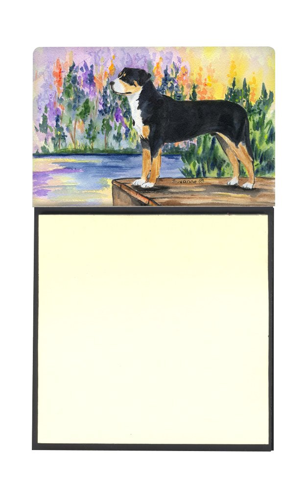 Large Carolines Treasures SS8160SN Greater Swiss Mountain Dog Refiillable Sticky Note Holder or Postit Note Dispenser Multicolor