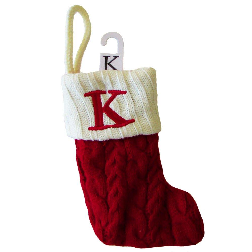 Amazon.com: St. Nicholas Square Mini Cable Knit Stocking-Letter K ...