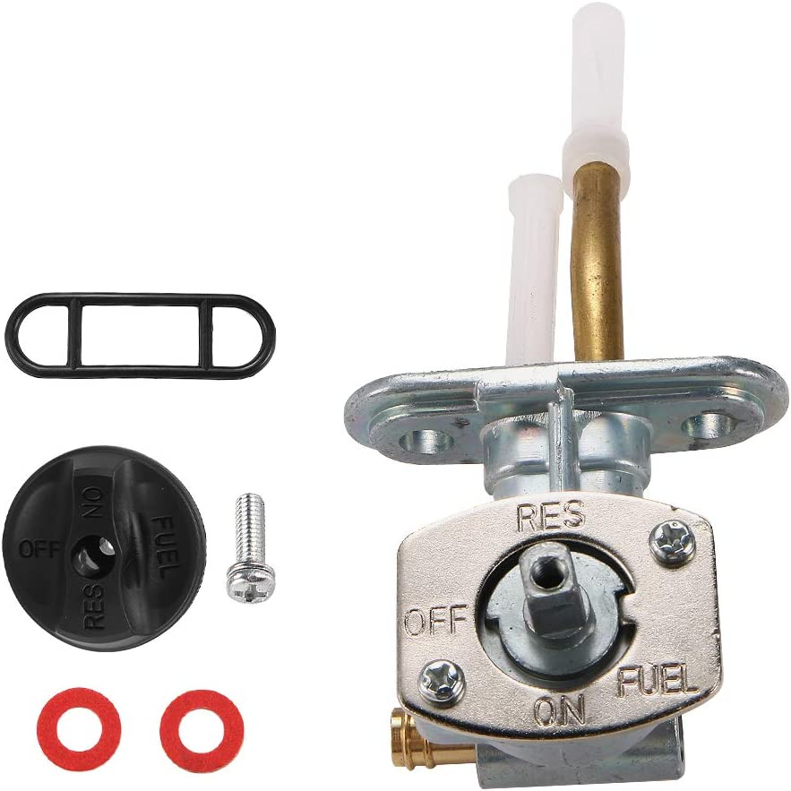 JahyShow Fuel Valve Kit Shut Off Petcock with Cover For 1999-2005 Arctic Cat 250 300 400 0470-445