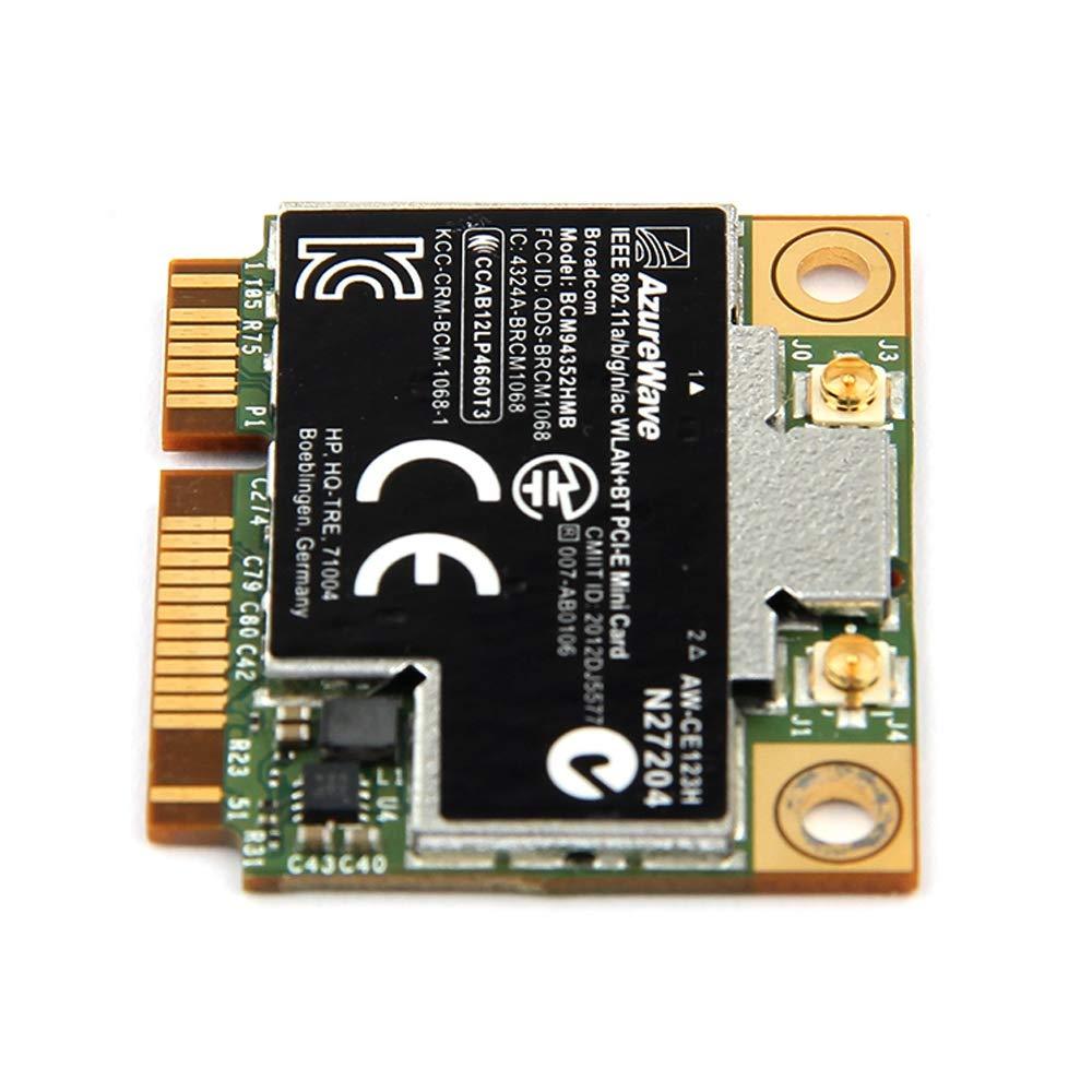 WOVELOT Doble Banda Bcm94352Hmb Bcm94352 802.11 AC 867Mbps WiFi 4.0 Pci-E Tarjeta Inal/ámbrica Aw-Ce123H Wi-Fi