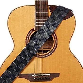 Amazon Com Amumu Checkered Guitar Strap Black Gray Nylon