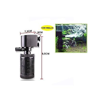 Cisne 2013, S.L. Filtro Interno para Acuario o pecera de 15W de Potencia 880L/