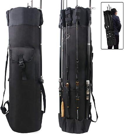 Adjustable Fishing Tackle Rod Holdall Bag Portable Pole Storage Bag Multifunctional Large Capacity Fishing Storage Bag for Rod Pole Reel Lures Box Tackle Fishing Rod Bag