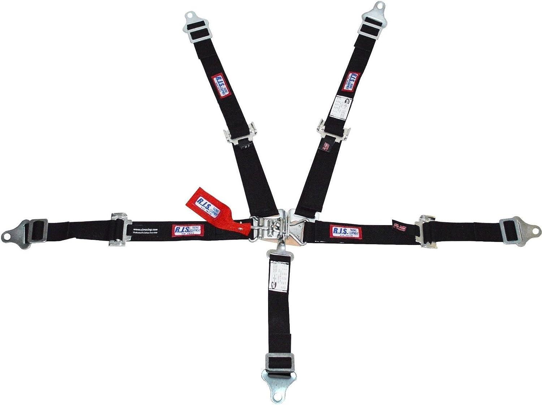 Racerdirect RJS Racing 2 5 PT Latch /& Link Harness JR Drag Buggy Belt Black 1005601