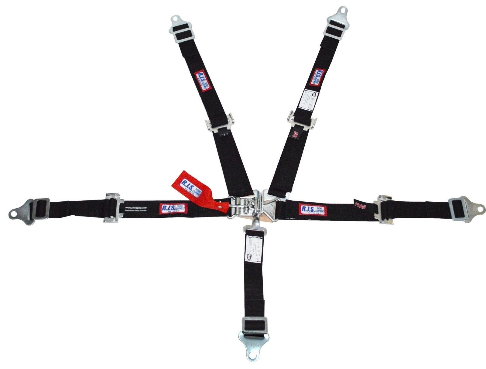 Racerdirect RJS Racing 2'' 5 PT Latch & Link Harness JR Drag Buggy Belt Black 1005601
