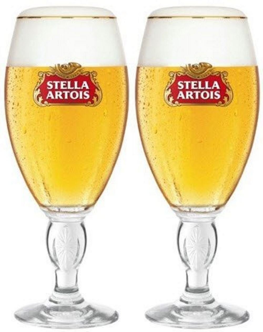 Stella Artois Chalice Half Pint Beer Lager Glass Glasses 10oz Set of 2