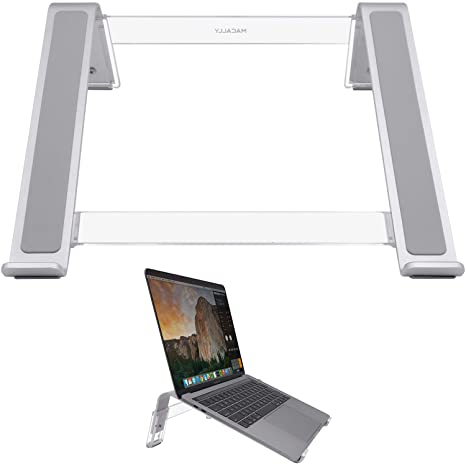 Amazon Com Macally Adjustable Laptop Stand For Desk Ventilated