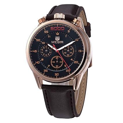 Megir Relojes Deportivos De Moda Creativos Hombres Militar Relojes De Pulsera Impermeable Reloj De Cuarzo De