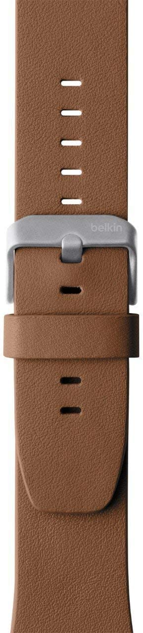 Belkin F8W731btC01 Classic Leather Band for Apple Watch Series 4, 3, 2, 1, /40 mm, Tan, 38 mm