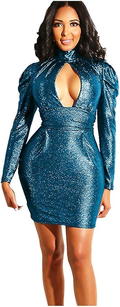 Vestido Largo Mujer para Noche y Fiesta Casual Poliéster Ropa Top ...