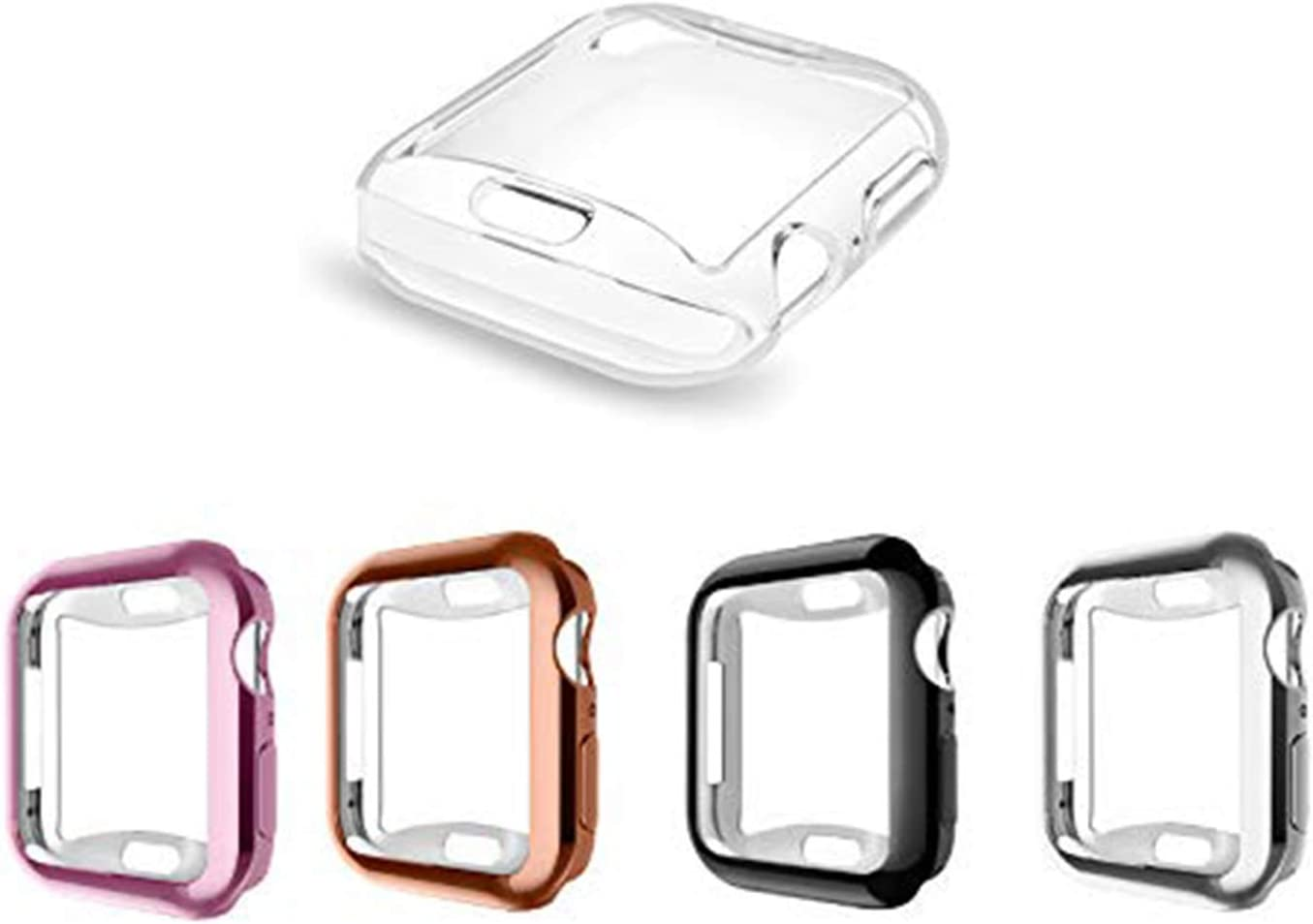 [5 Pack] ALADRS Screen Protector Case for Apple Watch 44mm, Full Protective HD Ultra-Thin Cover Compatible with iWatch Series 4 Series 5 Series 6 SE Bumper Case