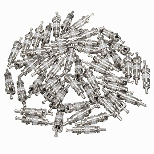 MONNY 50Pcs White A/C Valve Core AC Schrader Air Conditioning Valves For R134A Shrader by MONNY (Image #6)