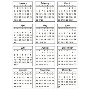 Amazon.com: Srm Mini Standard Calendar Stickers-2017: Home & Kitchen