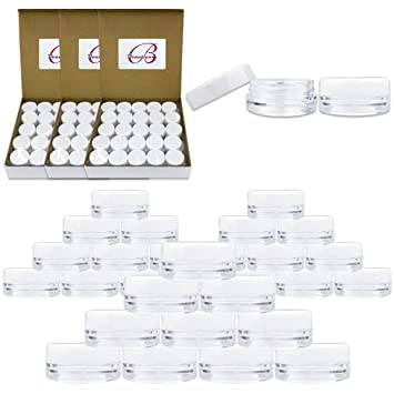 Quantity: 200pcs Medication Beauticom 3G//3ML Round Clear Jars with Screw Cap Lids for Pills OIntments and Other Beauty and Health Aids BPA Free