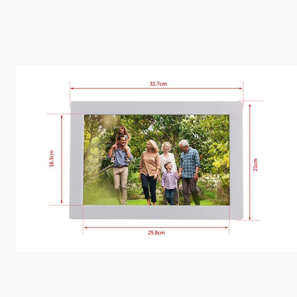 Alarm,Black HLKYB 12 Inch Digital Photo Frame Calendar 1280X800 HD Picture Videoelectronic Picture Frame with Auto-Rotate Motion Sensor E-Book