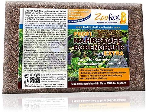 ZOOFUX Aquarium Nährstoffbodengrund (GRATIS Lieferung in DE - Alle wichtigen Nährstoffe, Spurenelemente für Aquarium-Pflanzen - Bodengrund + Nährstoffboden)