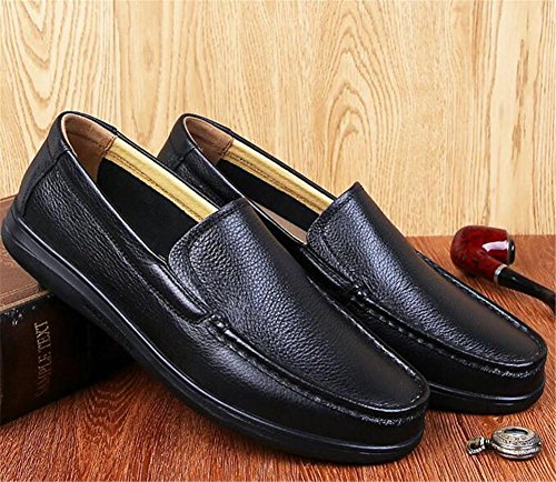 ligero Comfort y Soft oficina Comfort hombre a Black genuino 44 Tamaño cuero conducción Mocasines carrera 38 Zapatos wCgBPqFw