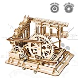 ROKR Wooden Marble Run Sets-Assembly Magic Tracks Toys-Fantastic Educational Toy-Wooden Puzzle Model Kit-Home Decor-Unique Christmas,Birthday Gifts for Boys,Girls,Teens,Adults(Cog coaster)