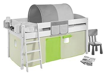 Vorhang Für Etagenbett : Vorhang grün beige für hochbett spielbett und etagenbett