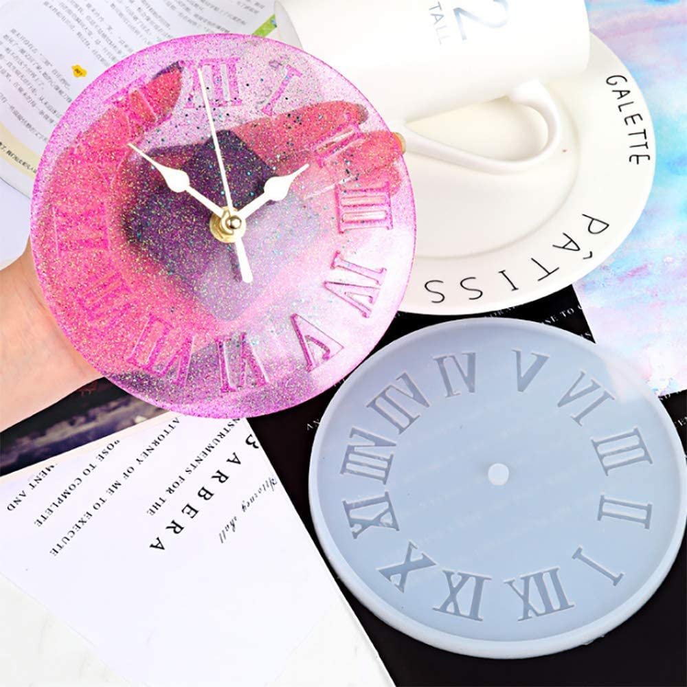 SEVEN HITECH Silicone Resin Kits Jewelry Casting Mould Tools for Epoxy Resin Jewelry Making Roman Numerals Clock DIY Crafts