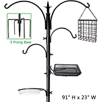 yosager 91″ x 23″ Premium Bird Feeding Station Kit, Bird Feeder Pole Wild Bird Feeder Hanging Kit with Metal Suet Feeder Bird Bath for Bird Watching Birdfeeder Planter Hanger