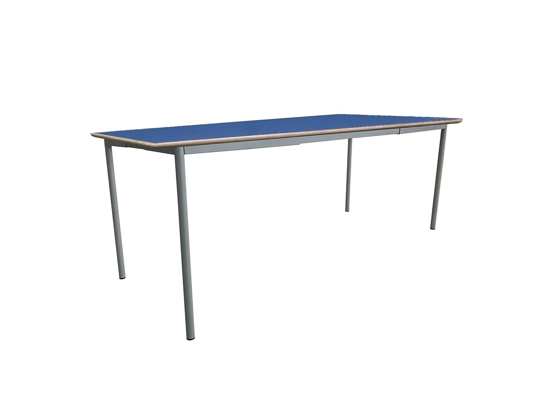 Mobeduc niños de la Mesa de Cuadrado Extensible, Madera, Azul Oscuro, tamaño 3, 120 x 80 x 59 cm
