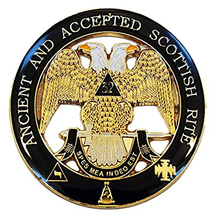 rite window reviews dial freemasonic ancient accepted scottish rite 32nd degree double headed eagle round black car auto emblem amazoncom